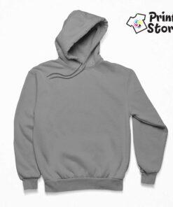 Muški sivi duks sa kapuljačom - Print Store online shop