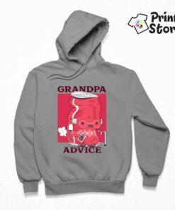 Duksevi sa kapuljačom sivi Grandpa advice. Print Store duksevi sa kapuljačom