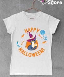 Ženska majica bele boje, Happy Halloween. Print Store online prodavnica majica i dukseva