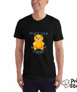 I'm not your friend - muška crna majica - majice sa naptisima u online shopu Print Store