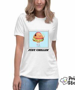 Just chillin - bela majica