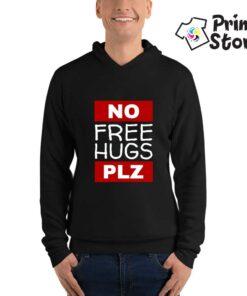 Duks crni, No free hugs plz - Print Store