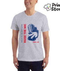 Raise the mic, muška siva majica - Print Store