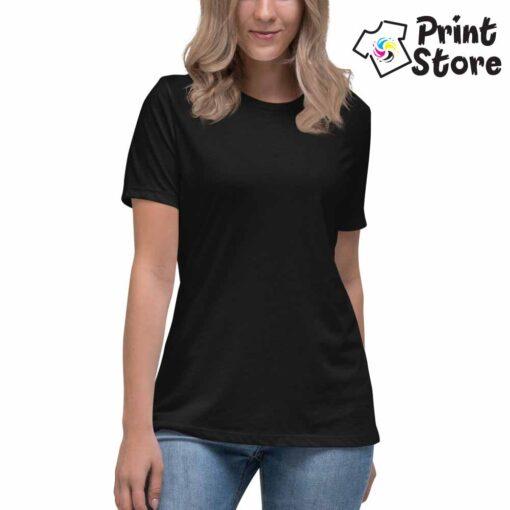 Ženska crna majica - Print Store shop