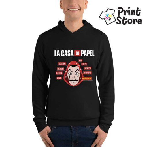 Crni duks La casa de papel - Print Store online prodavnica