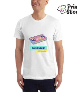 90's rules bela majica - Print Store online shop