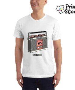 Back to 80's - bela muška majica - Print Store online shop