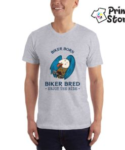 Biker Born - siva moto majica