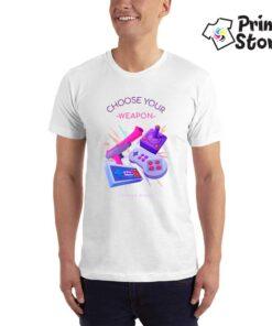 Choose your weapon - bela muška majica - Print Store