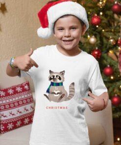 Christmas rakun majice za dečake