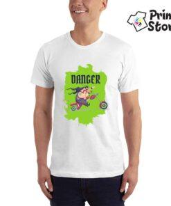 Muška majice Danger - bela boja
