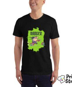 Crna muška majica - Danger