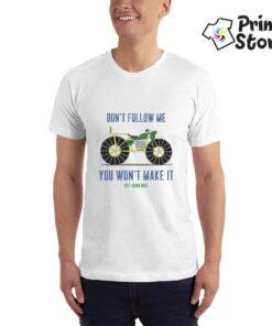Bela muška majica sa auto majicama - Print Store
