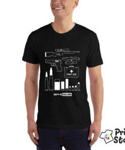 Duty is calling crna muška majica - Print Store online shop