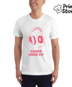 Gamer mode on - bela majica za muškarce - Print Store