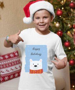 Happy Holidays meda, majice za dečake