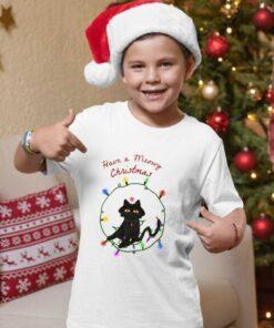 Majice za dečake Have a Meowy Christmas