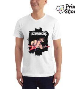 Headbanging - muška bela majica