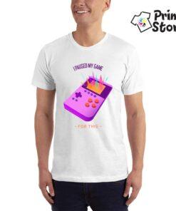 I paused my game - bela muška majica - Print Store