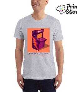 Insert coin retro game machine majice za muškarce - Print Store