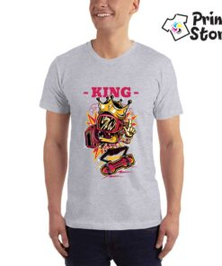 King muška majica - Print Store siva majica