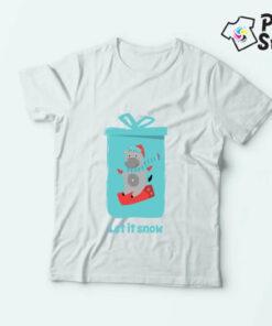 Let it snow sneško majice sa motivima nove godine