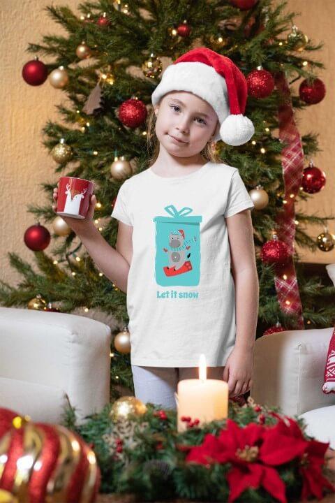 Majice za devojčice Let it snow