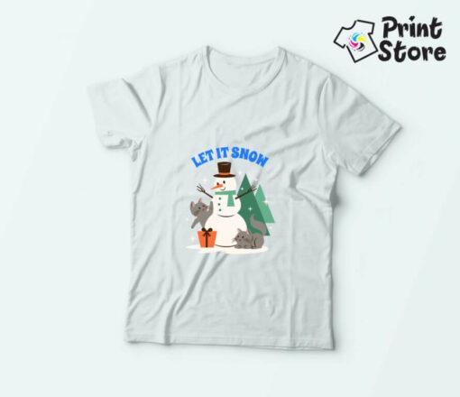 Let it snow, novogodišnje dečije majice
