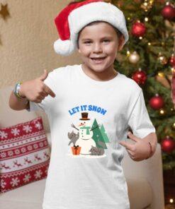 Dečije majice Let it snow. Majice za dečake