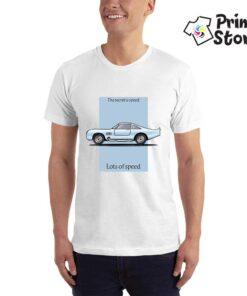 Bela muška majica sa štampom - auto majice