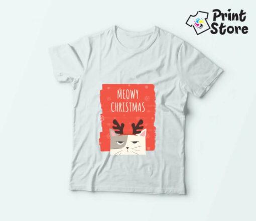 Dečije novogodišnje majice Meowy christmas