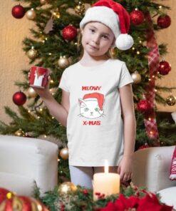 Majice za devojčice Meowy xmas. Novogodišnje majice za decu