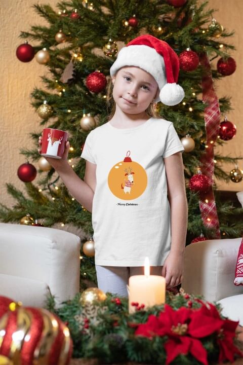 Merry Christmas novogodišnje majice za devojčice. Veliki izbor novogodišnjih majica Print Store