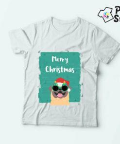Novogodišnje dečije majice Merry Christams pas