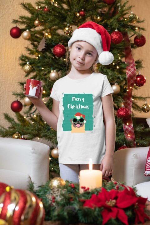 Merry Christmas majica za devojčice. Novogodišnje majice na jednom mestu. Online prodavnica Print Store