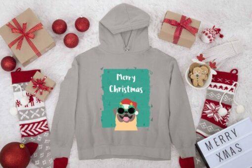 Merry Christmas novogodišnji muški sivi duks. Print Store online prodavnica