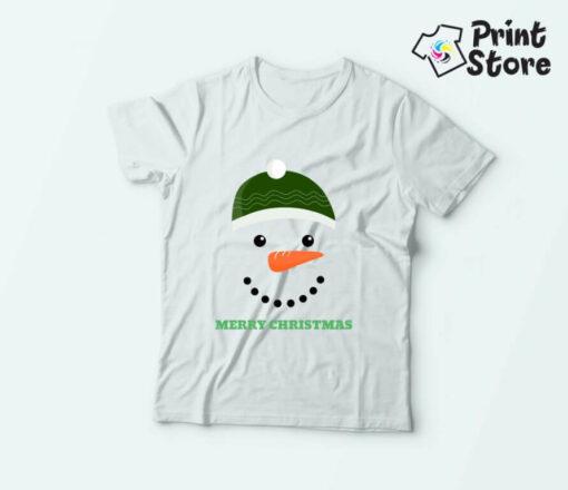 Novogodišnje majice za decu Merry Christmas sneško