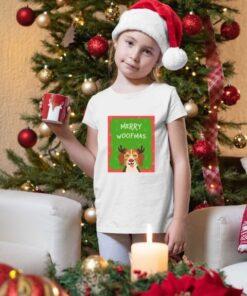 Merry Woofmas novogodišnje majice za devojčice