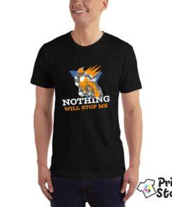 Crna muška majica - Nothing will stop me