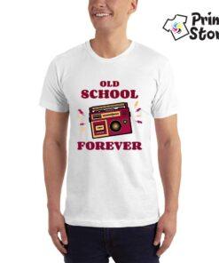 Old school forever bela muška majica - muzika