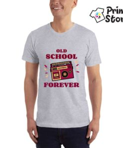 Old school forever siva muška majica - muzika