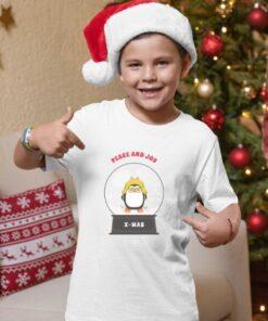 Peace and Joy Christmas majice za dečake. Novogodišnje dečije majice