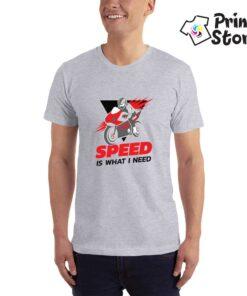Muška siva majica - Speed is what I need