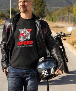 Crna muška majica - Speed is what I need - Proverite ostale modele u Print Store online shopu