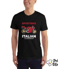 Sportbike Italian championship - crna muška moto majica