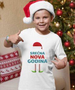 Srećna nova godina, majice za dečake. Dečije majice Print Store