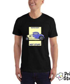 Muška crna majica - Auto motivi - Print Store online shop