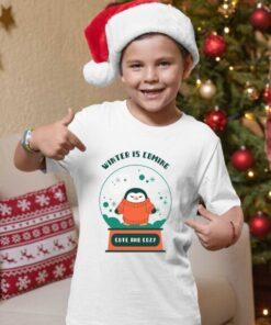 Winter is coming novogodišnje majice za dečake. Print Store