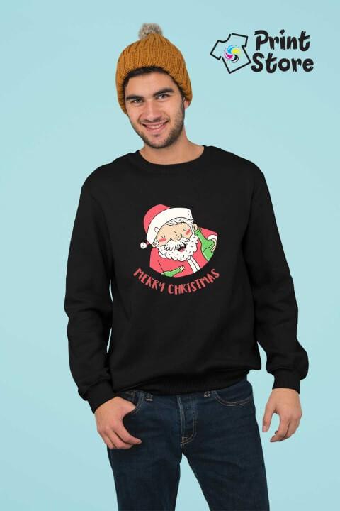 Merry Christmas deda mraz crni duks