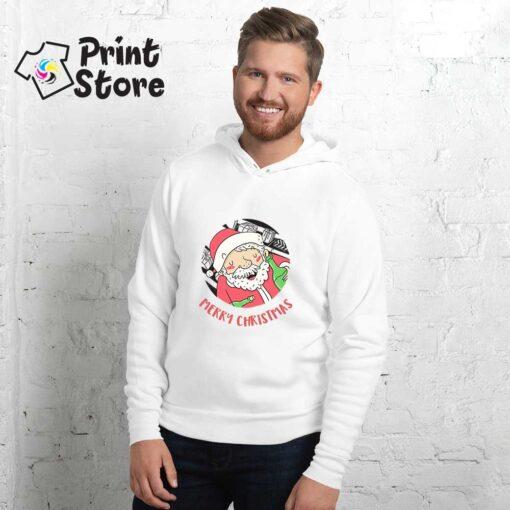 Beli duks sa kapuljačom Merry Christmas Deda Mraz. Novogodišnji duksevi u online shopu Print Store